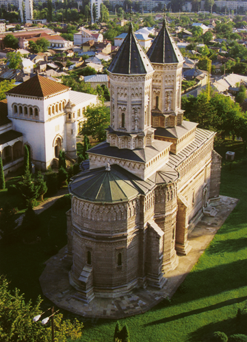 Aerial view of the monastery.